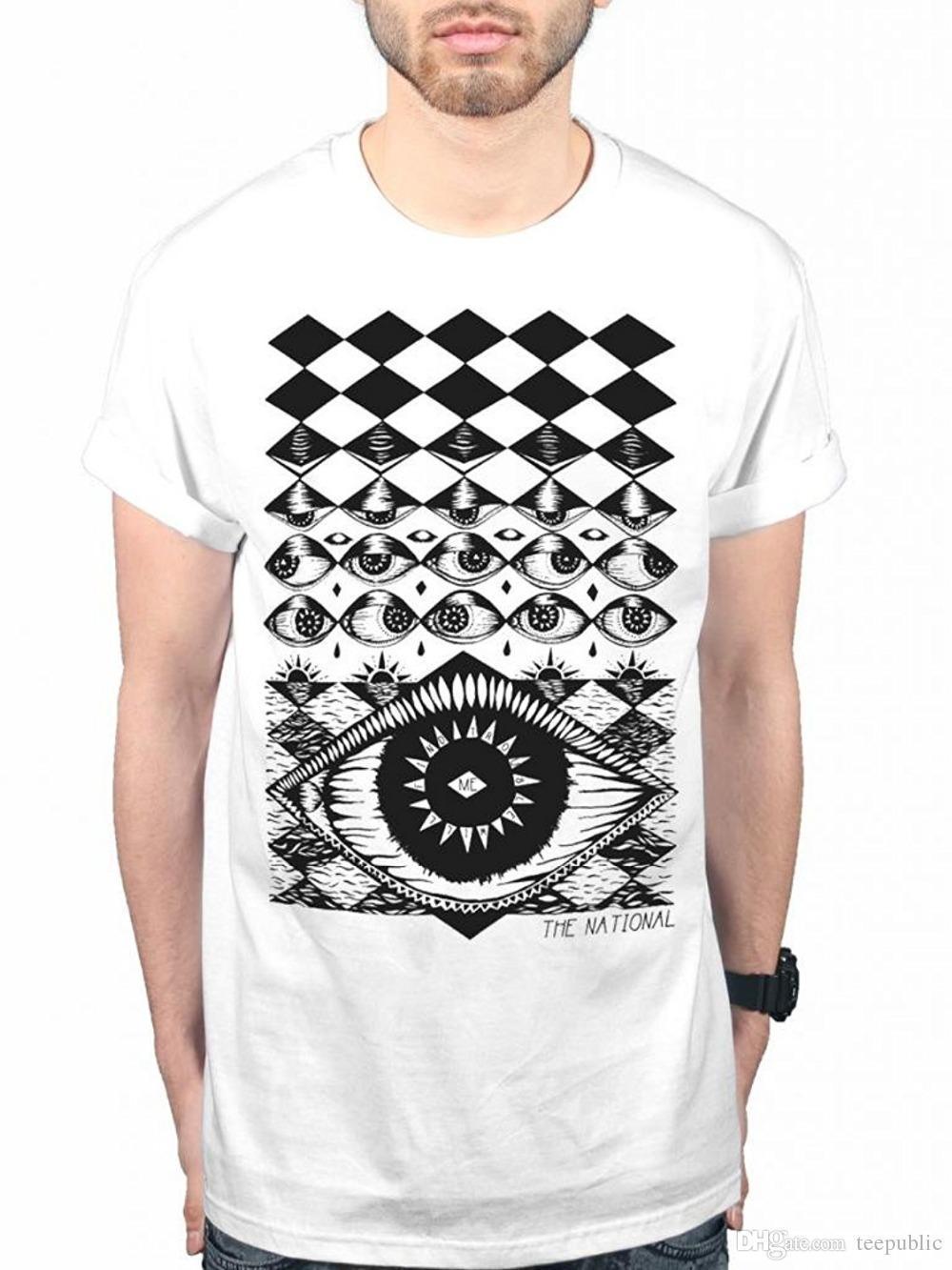 Design Your Own T Shirt Men s Short The National Eyeball T-Shirt Indie Rock  Band Eye Music Album Summer O-Neck Tee Shirt