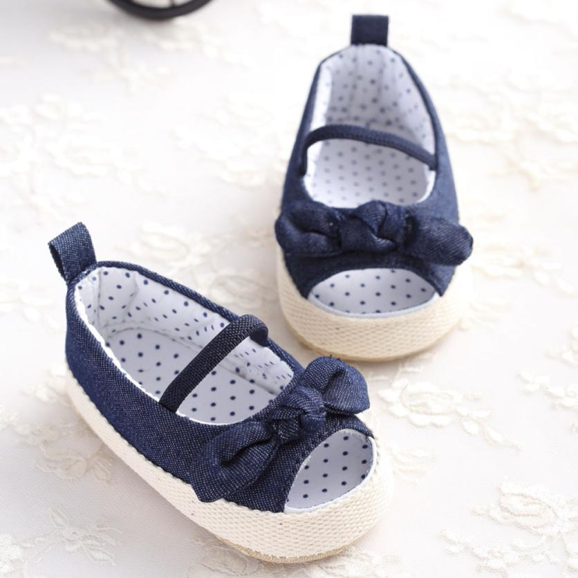 eebd8c3cb 2017 Hot EleInfant Kids Girls Sandals Shoes Denim Crib Shoes Summer Soft  Bow Princess Baby Daily Use Dropshipping  20 Baby Boy Dress Shoes Shoes  Youth From ...