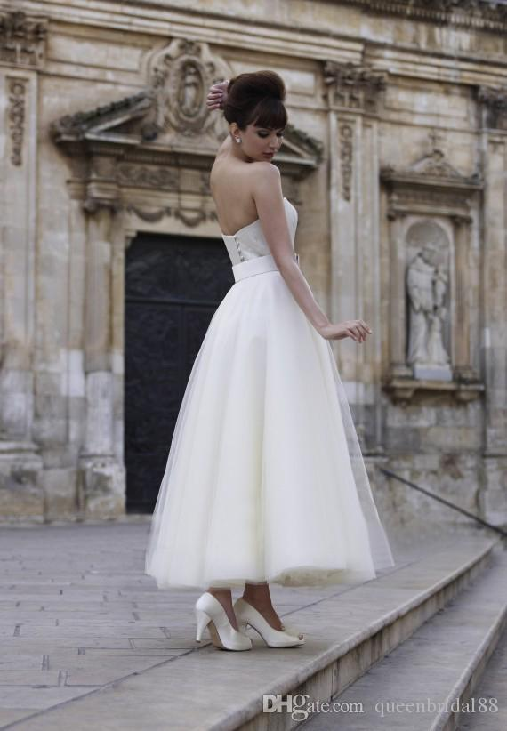 Ankle Length Tulle A Line Wedding Dresses with Sash Sweetheart Spring Summer Bridal Gowns with Jacket