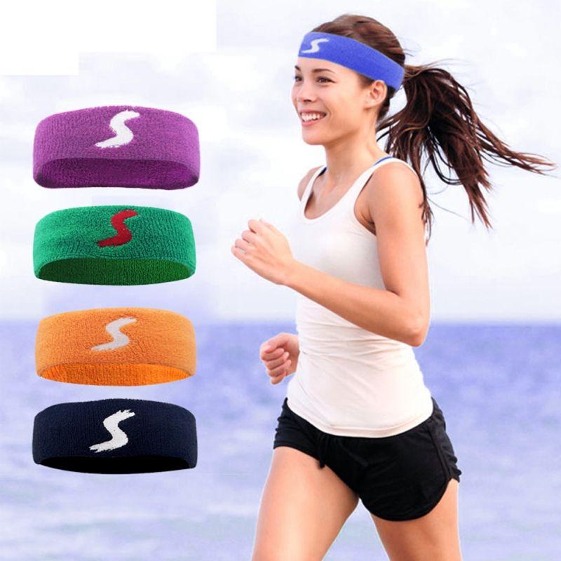 2019 Men Cotton Thick Tower Sports Sweat Band Hair Headband Women Tennis  Badminton Basketball Sweatband Basketball Tennis Headbands From Peachguo 0d89a064397