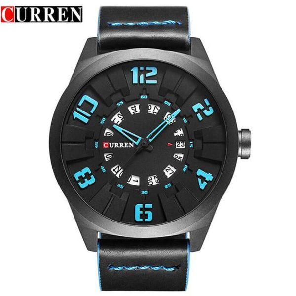 63ed3b143e9f Compre 2018 Nuevos Relojes De Curren Reloj De Cuarzo De Cuero De Lujo De Moda  Para Hombre Reloj Militar De Deporte Para Hombre A  25.13 Del Perpendicular  ...