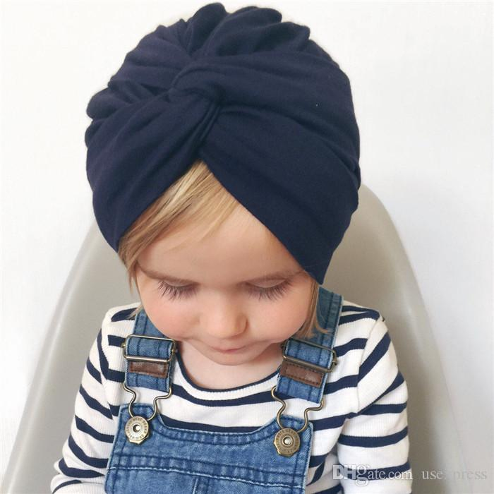 2019 New Designed Cute Baby Hat Cotton Soft Turban Knot Girl Summer Hat  Bohemian Style Kids Newborn Cap For Baby Girls India Style From Usexpress dcd54676c174