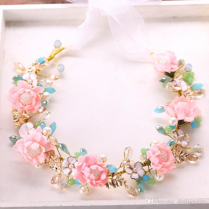 Haar Blume Hochzeit | Grosshandel Haar Blume Kranz Hochzeit Haarband Bohmische Madchen