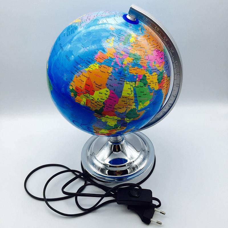 2019 Novelty Eu Plug Globe Table Led Light Home Office School Lamp