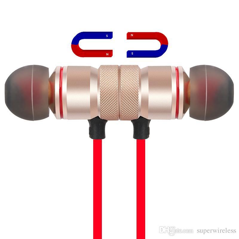 M5 M9 magnetica auricolare senza fili Bluetooth Stereo Sport auricolari In-Ear wireless Cuffia con microfono iPhone 7 Samsung