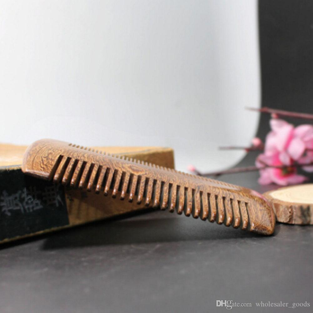Combs Green Sandalwood Pocket Beard Hair Combs Double-sided beautifully carved craft Fashion Handmade Natural Wood Comb