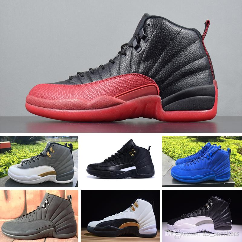 new style 84e23 e890d Acquista Nike Air Jordan 12 Retro Alta Qualità 12 12s OVO Palestra Red Wool  Taxi Basket Scarpe Uomo Donna Bordeaux Il Master Nero Nylon UNC Sneakers  Con ...