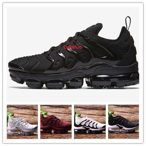 huge discount 7454f ac8e5 Compre Venta Al Por Mayor Vapormax Plus Tn Running Shoes 2018 Para Hombres  Zapatillas De Deporte Casuales Zapatos Deportivos Al Aire Libre Para Correr  ...