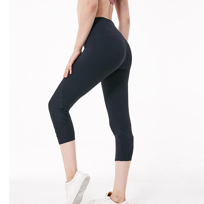 ec02a7dfb33d 2019 Women Yoga Capri Leggings High Waist Yoga Pants Booty Scrunch Leggins Workout  Gym Legging Fitness Sweatpants Female Gym Wear From Yiquanwater, ...