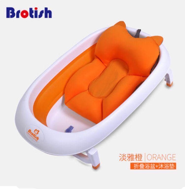2018 Newborn Baby Bath Tub Seat Adjustable Baby Bath Tub Rings Mat ...