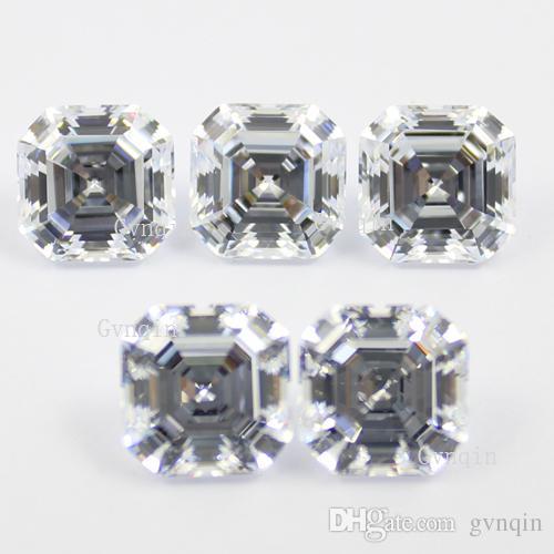 8.5mmX8.5mm cubic zirconia simulated diamond asscher cut loose gem stones