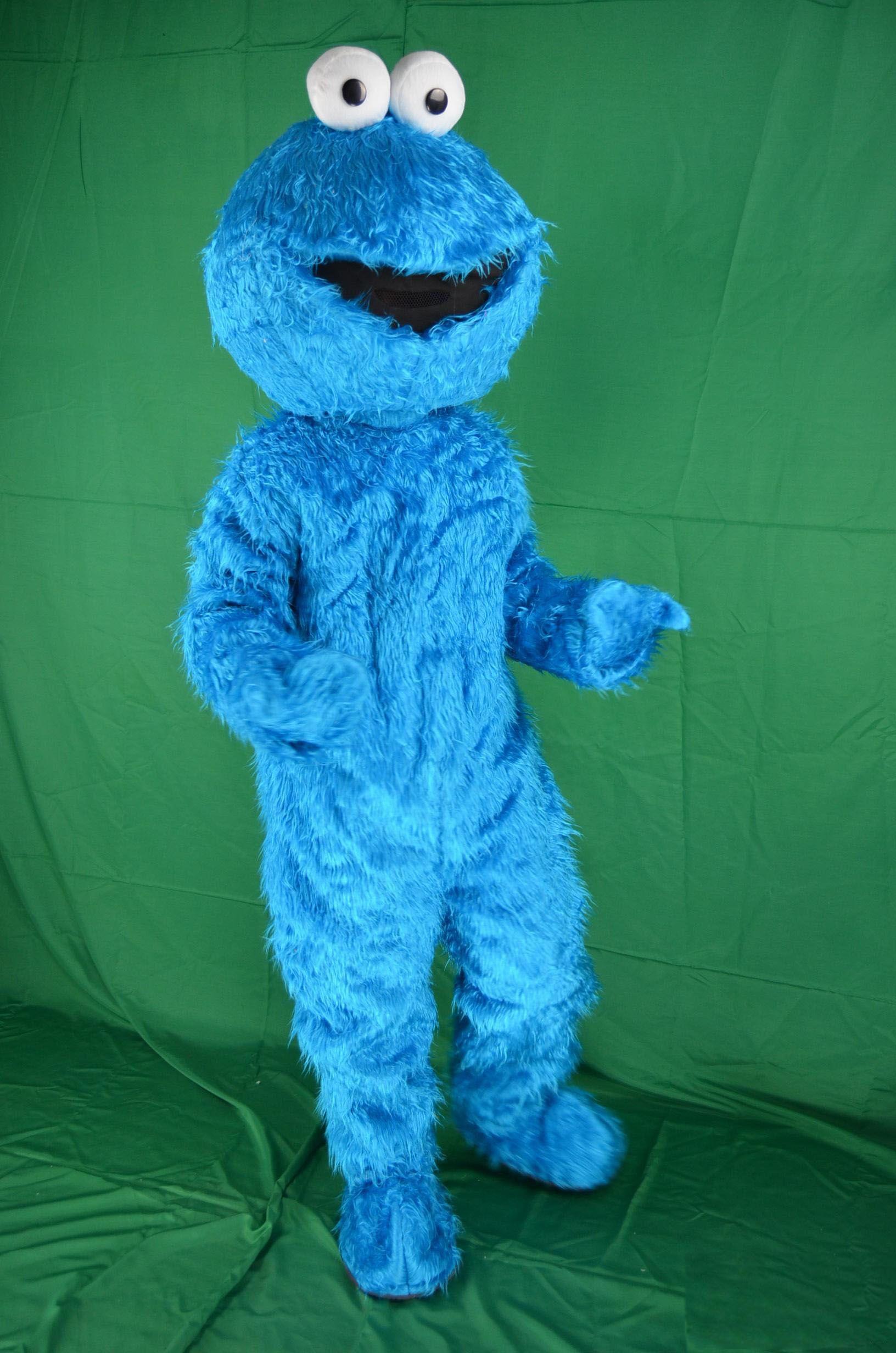 2018 hot sale sesame street blue cookie monster mascot costume