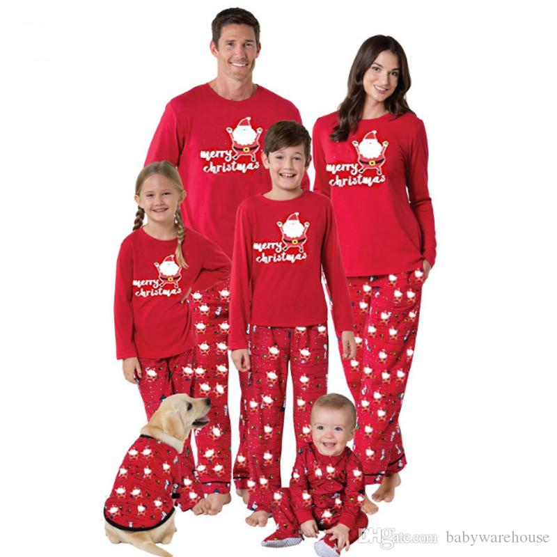 2fd0129a18 Matching Family Pajamas Mom Dad And Kids Sleepwear Family Matching Clothes  Sets Santa Claus Printed New Year Pajamas Family Look Outfits Cute Matching  ...