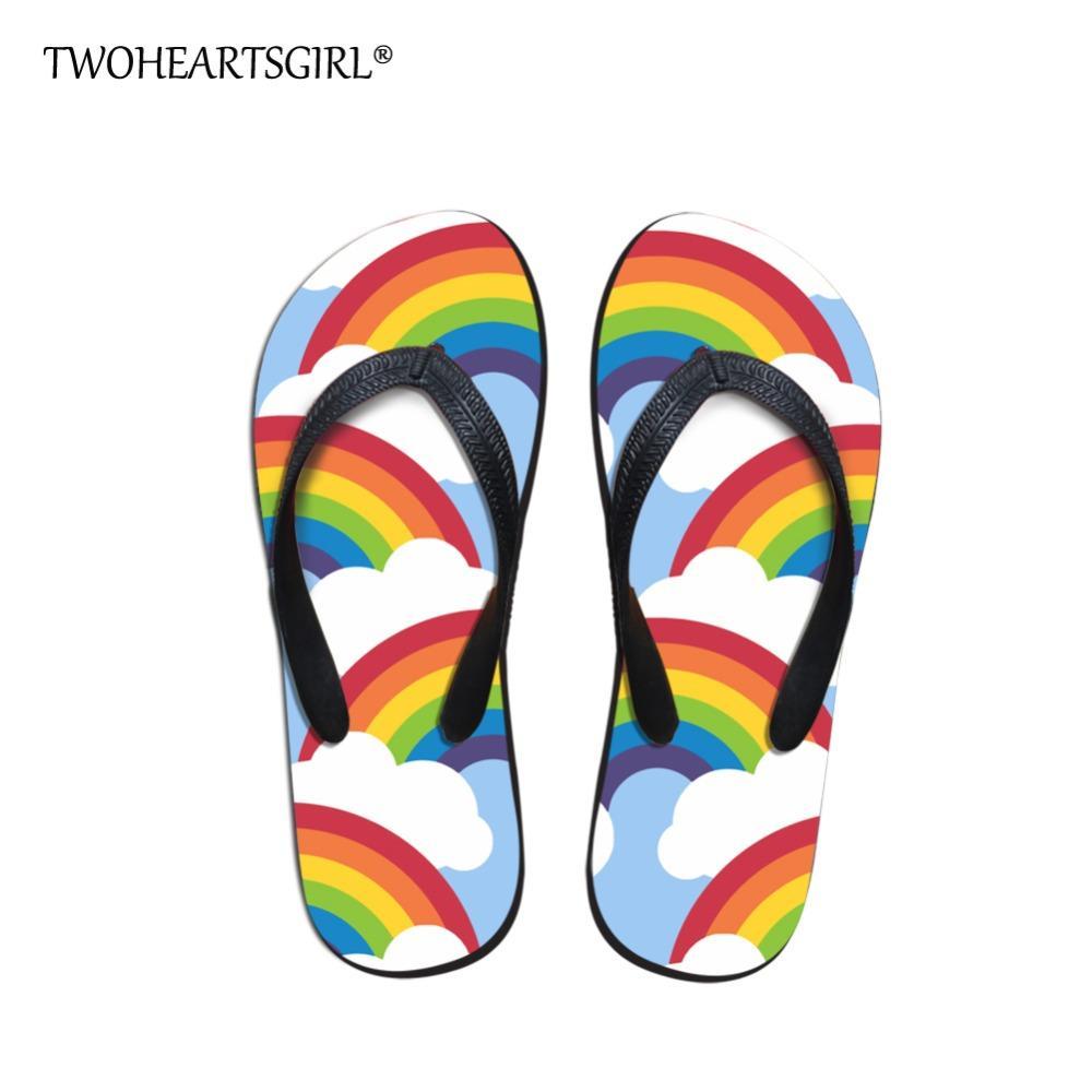 b5e40fada Wholesale Soft Rainbow Dinosaur Prints Flip Flops For Women Leisure Female  Ladies Flipflops Slippers Personalized Flat Shoes Sheepskin Slippers  Slippers For ...