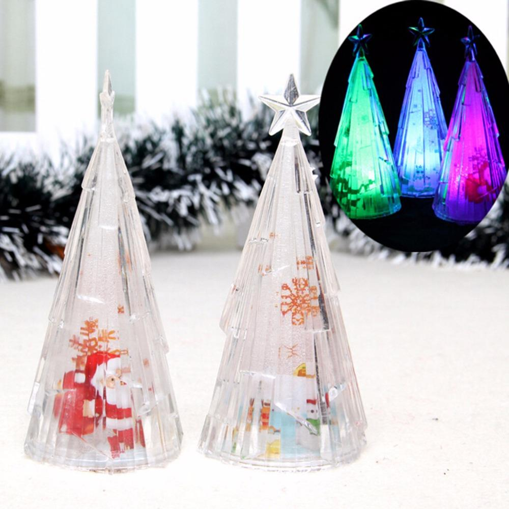 mini usb color changing led light slow flash table trees xmas plastic christmas decorations tree in the desktop unique christmas decorations for sale unique