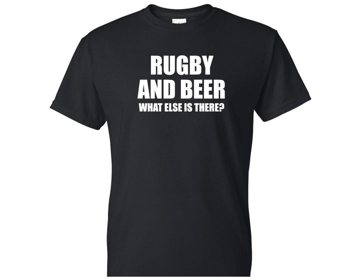 2c7adee60d5 Rugby And Beer Mens Novelty T Shirt Gift Idea Funny Unisex Christmas ...