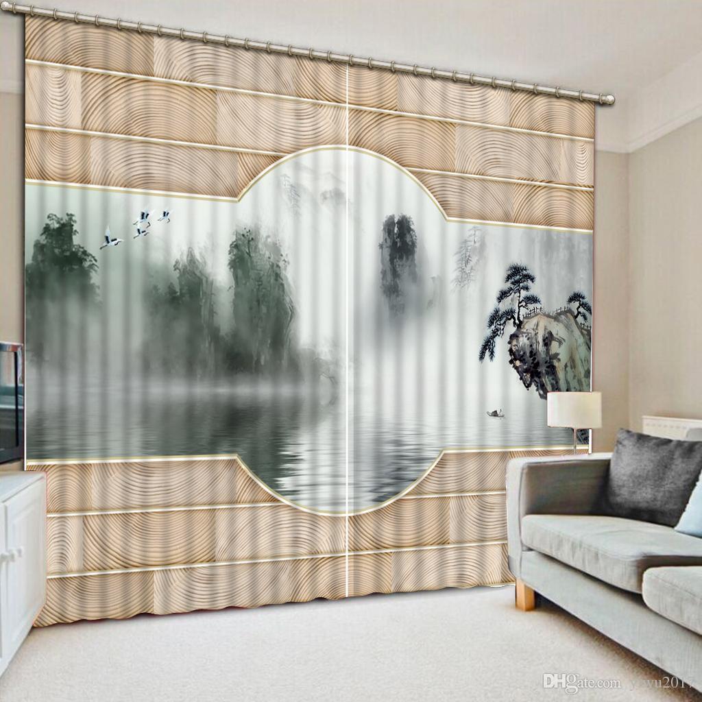 European Style Top Qualität Vorhänge Für Wohnzimmer Blackout 3D Vorhänge,  Das Material Ist Polyester Anpassen Käufer Größe