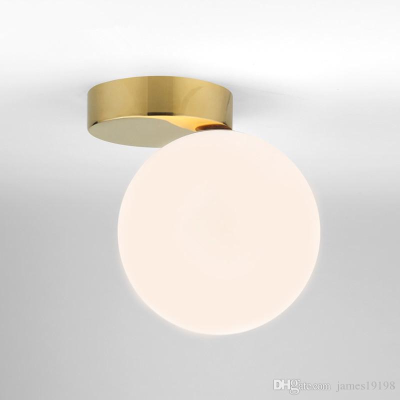 Chambre En Lampes Boule D Maison Entrée Côté Éclairage Verre Hall Ronde À Applique D20cm De Murale Art Moderne Blanc La y0vwmNOP8n