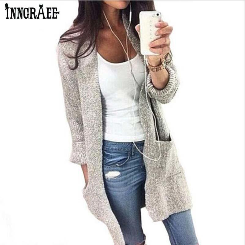 a2246abe5358 2019 2017 Fashion Autumn Winter Women Long Sleeve Loose Knitting ...