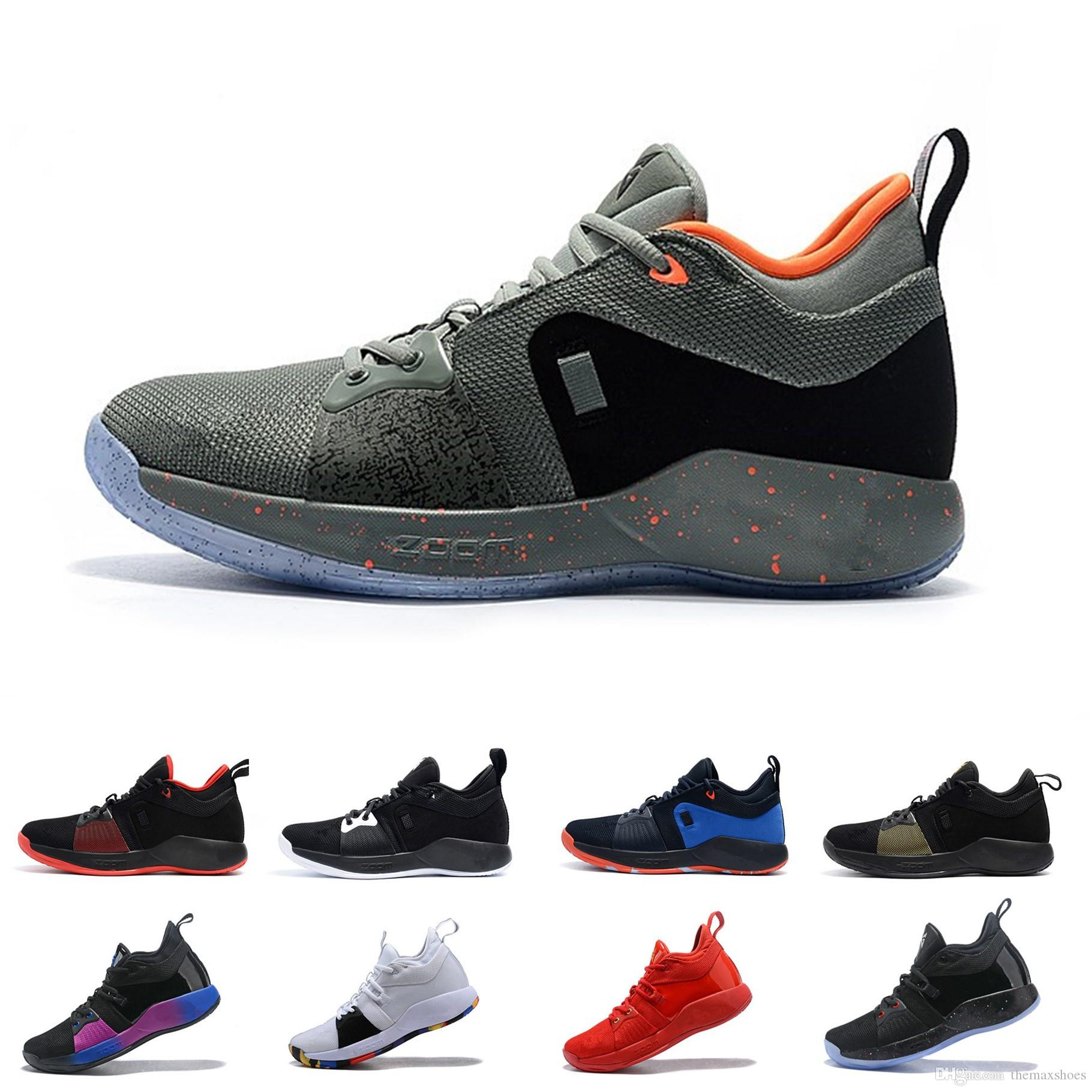2e3d4d7766e0 2018 Paul George PG 2 TS GS ID EP PALMDALE II Basketball Shoes Cheap PG2 2S  Starry Blue Orange Red Black Sports Sneakers Size 40 46 Loafers For Men  Mens ...