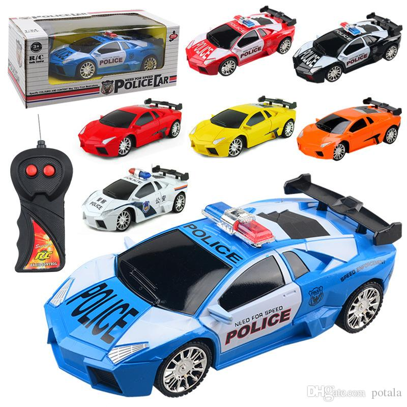Remote Control 4CH RC Car Electric Toys Happy kids Toys Party Radio Racing Controlled Cars 4 Channels Vehicle SUV Police Tank Army Cars Red