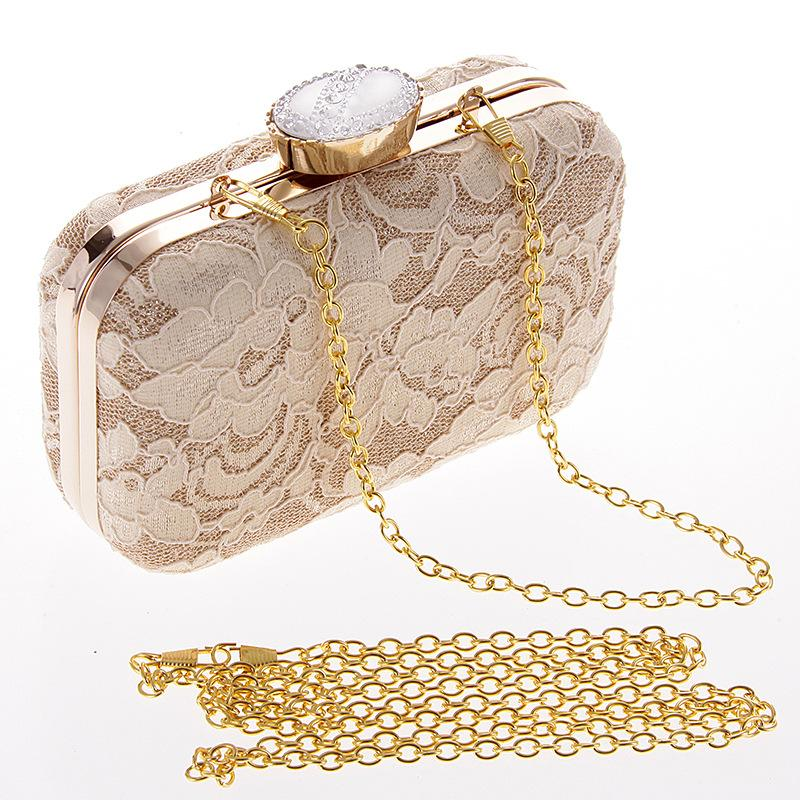 92beef49ab58 Lace Flower Evening Clutch Bag Luxury Bridal Wedding Dinner Party Purse  Handbag Womens Chain Fashion Mini Floral Shoulder Bags Big Handbags Purple  Handbags ...
