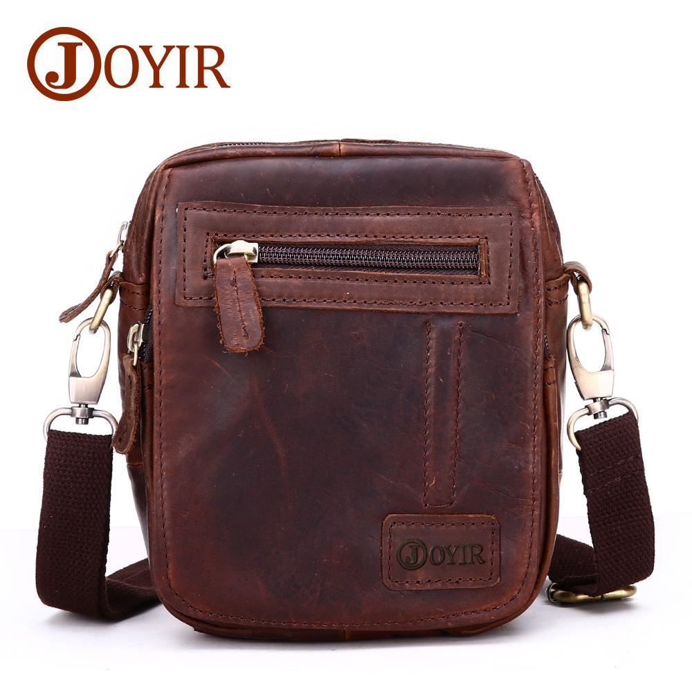 1215d19185 Wholesale Vintage Genuine Crazy Horse Leather Belt Bag Men S Waist Bag  Design Casual Leg Fanny Pack Shoulder Bag