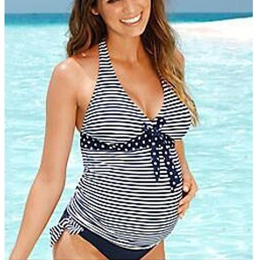 3383055a6e61d 2019 2018 New Summer Beach Wear Women Swimwear Maternity Bikini Plus Size  Maxi Costumes Tankinis Set Fat Pregnant Swimsuit Clothes From Okbrand, ...