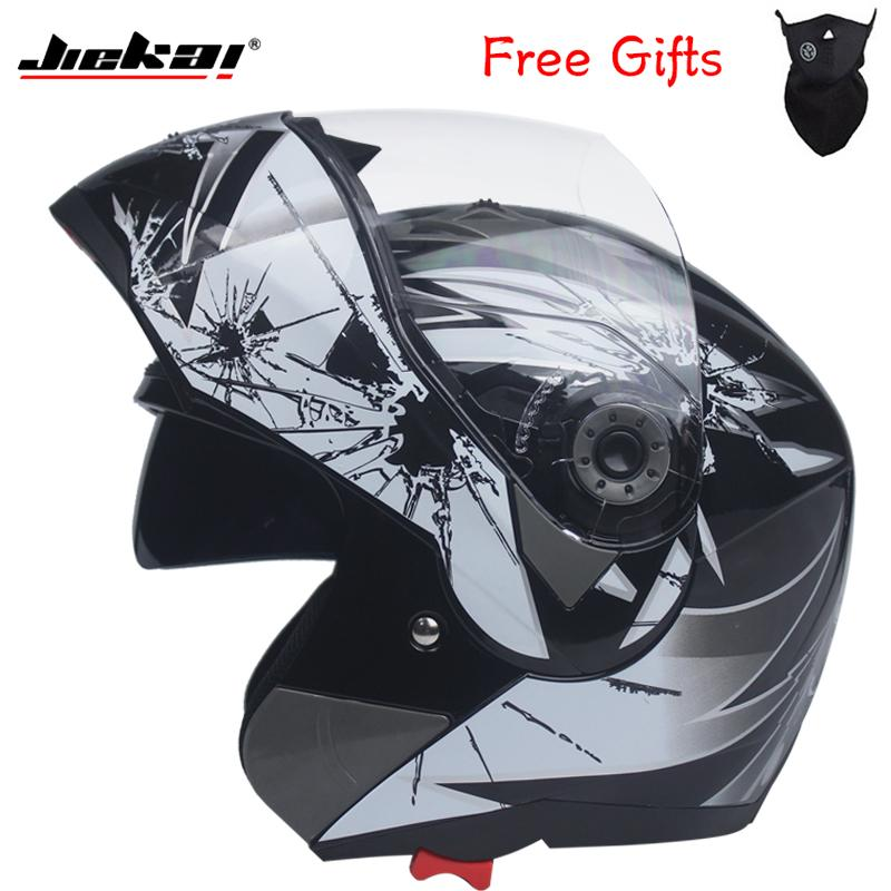 dd054197 2018 Latest Flip Motorcycle Helmet/Motor Racing Double Visor Helmet/Car Racing  Full Face Safety Helmet/DOT Approved JIEKAI 105 Full Motorcycle Helmets Fun  ...
