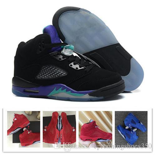 separation shoes ca0a1 ac3a0 Großhandel Nike Air Jordan 5 Aj5 Retro 2018 Neue Männer 5 5s Basketball  Schuhe OG Triple S Schwarz Weiß Zement Rot Blau Wildleder Metallic Gold  Sport ...