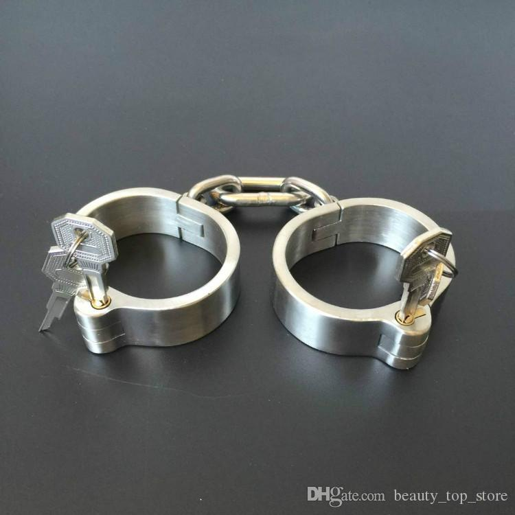 nisex Stainless Steel Handcurffs Ankle Cuffs Collar Bondage Gear BDSM Toys And Sex Toys Fast Shipping