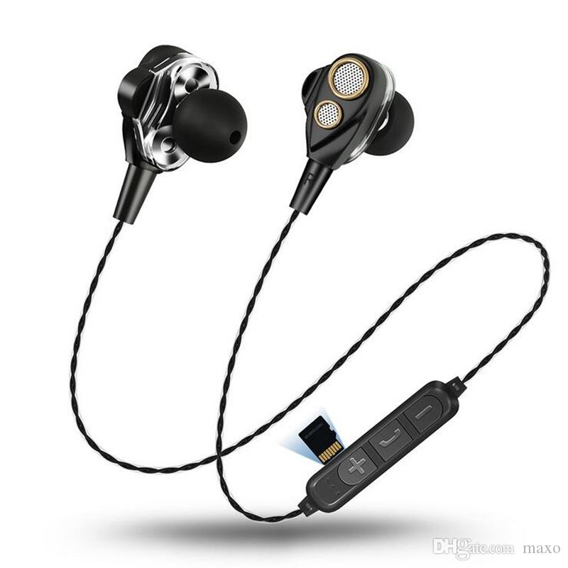 Auricolare Bluetooth Con Filo Cuffie Bluetooth Senza Fili Dual Coil  Bluetooth SMN 15 Cuffie Stereo Bluetooth V4.1 Basso Stereo Bluetooth Con  Slot Schede TF ... bd2a794514e4