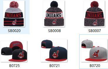 2019 Hot Sale INDIANS Beanie Snapback INDIANS Hat Strapback Sideline ... df53edaa3c8