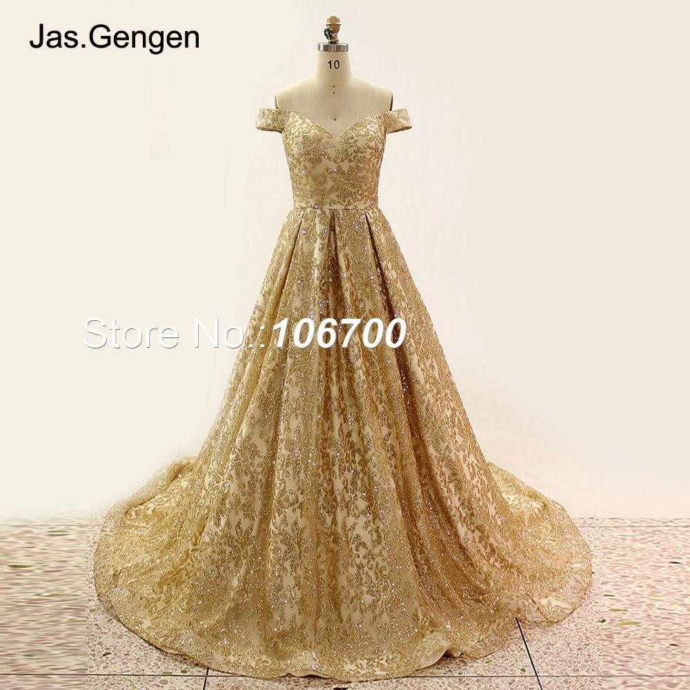Abendkleid gold glitter