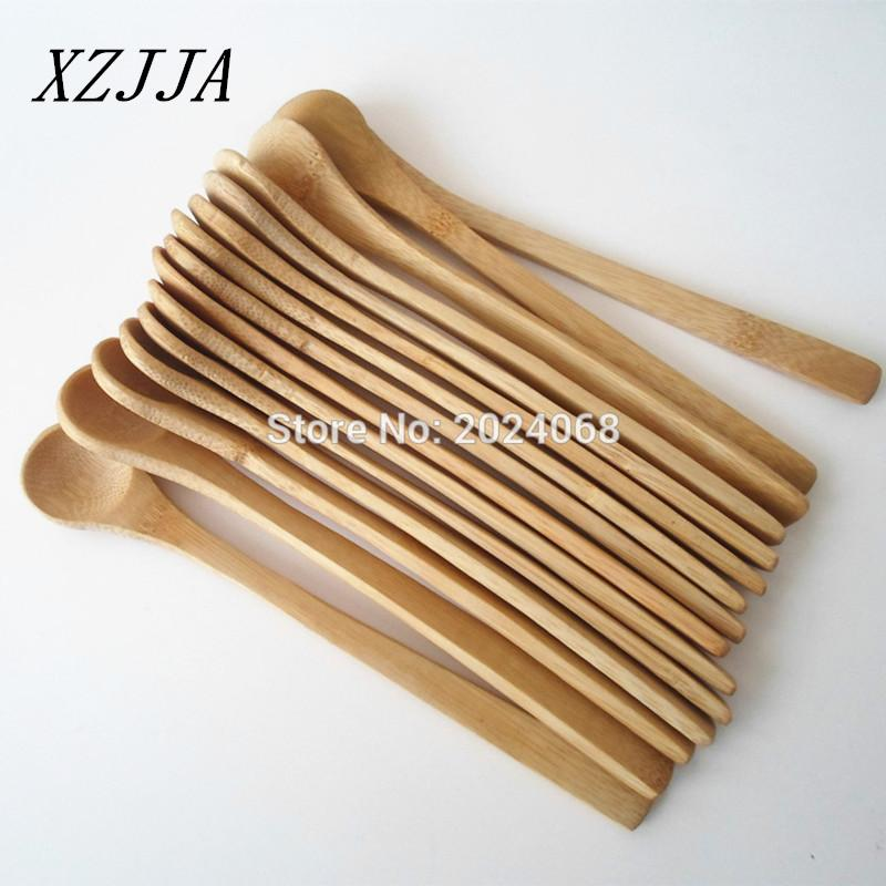 Wholesale 15pcs 7 5inch Wooden Spoon Ecofriendly Japan Tableware Bamboo Spoon Scoop Coffee Honey Tea Ladle Stirrer Best Quality