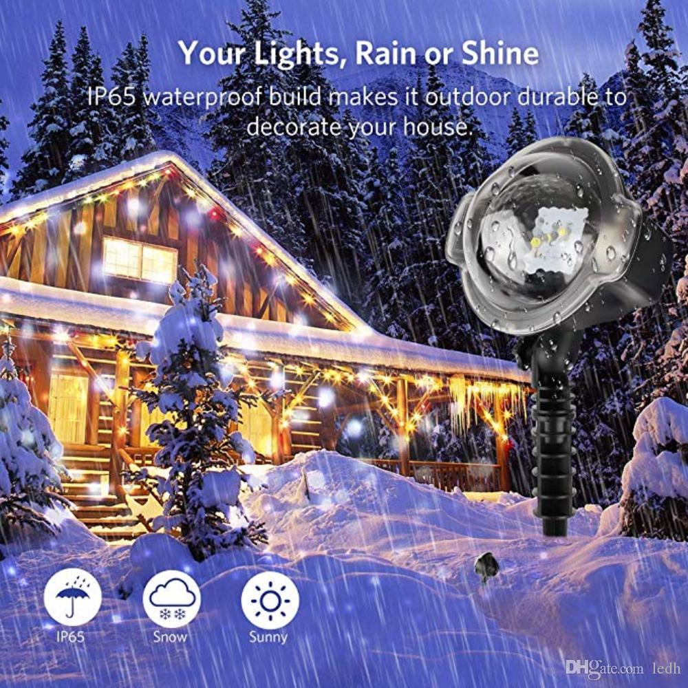 2018 newest christmas led snow light projector snowflakes night lamp home garden xmas party decor from ledh 95478 dhgatecom