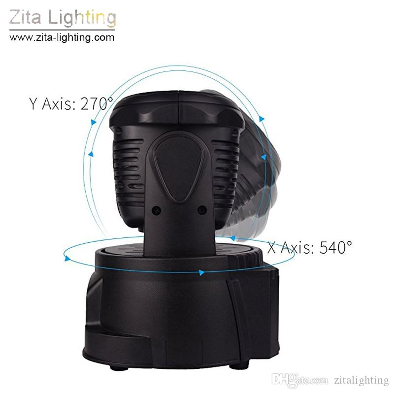 Zita Lighting Mini Moving Head Lights LED Stage Beam Spot Sharpy Wash Lighting RGBW Mixing 7X10W DMX512 Pro DJ Disco Party Christmas Effect