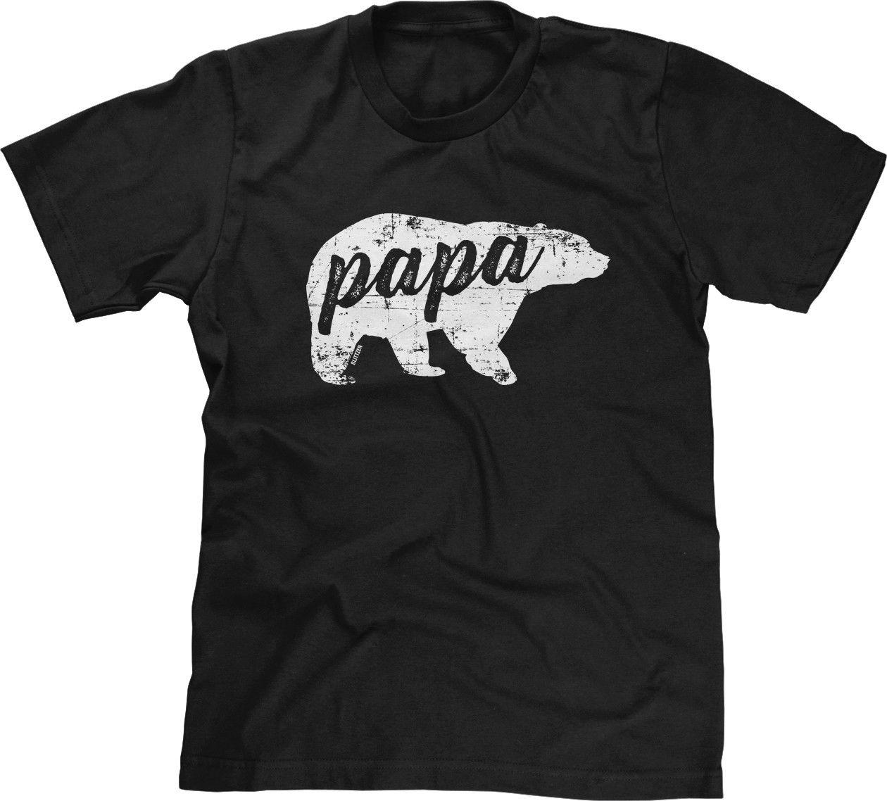 2230dbde9 Papa Bear New Dad Daddy Pops First Fathers Day Baby Present Gift Mens  TeeMens 100% Cotton Plus Size Top Tee Worlds Funniest T Shirts Cool Tee  Shirts Cheap ...