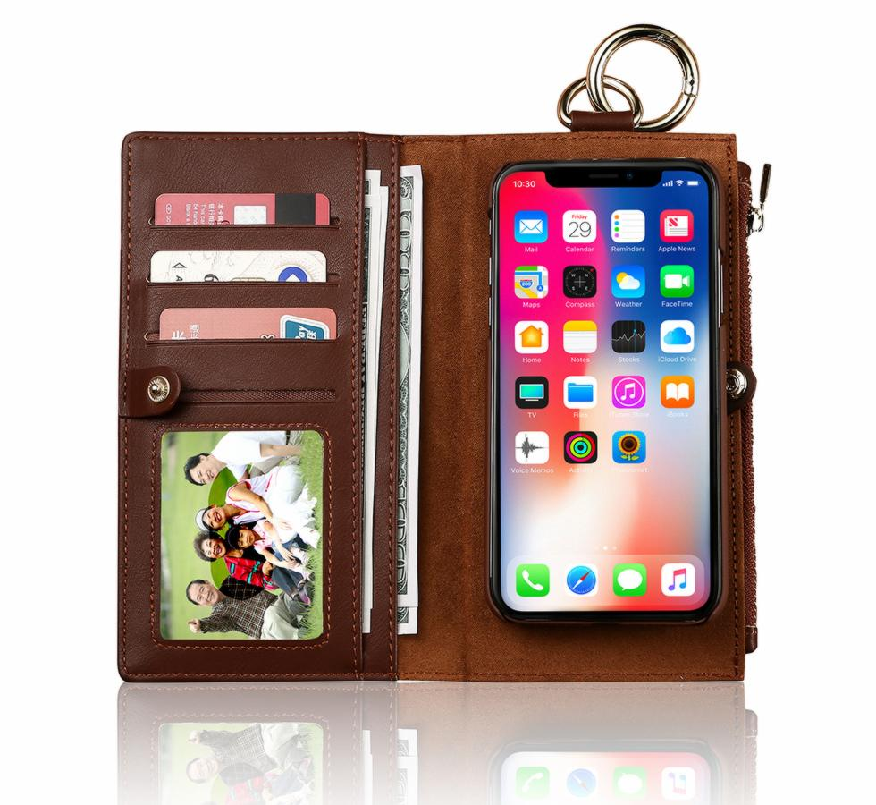 Cheap Versions For iPhone X 8 7 6 6sPlus Vintage Retro Flip Stand Wallet Leather Case With Strap Photo Frame Phone Cover