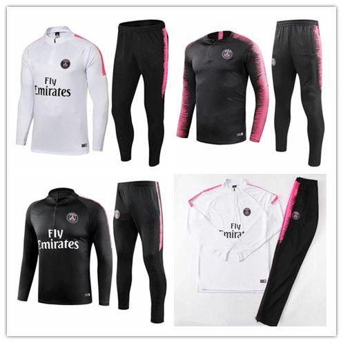 Adult Soccer Match Paris 2018psg Track And Field Suit 18 19 MBA Shoes Lucas  JR Home Football Jacket Training Kit Size S-XL Training Suit JR MBAPPE  Online ... 3c6beefae