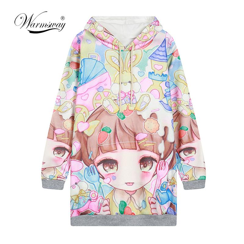 ed0ecdfb3 Autumn Lolita Hoodies Women Cute Hot Japan Students Young Kawaii Pullovers  Japanese Girl HARAJUKU Long Style Sweatshirt C-215 Online with $59.96/Piece  on ...