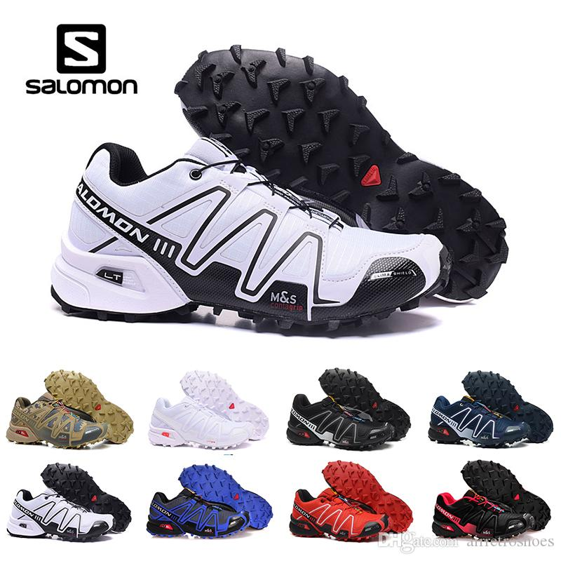 a56733071017 New Salomon Speed Cross 3 CS III Outdoor Mens Womens White Black Sports  Shoes Speed Crosspeed 3 Running Shoes Sneakers Eur 40 46 Mens Sale Cheap  Running ...