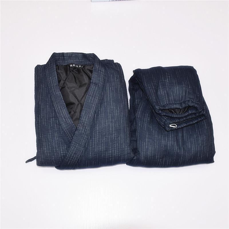 8009d636ea 2019 Men Japanese Style Kimono Yukata Bathrobe Pajamas Set Cotton Shirt  Pants Thick Clothing Warm From Yakima