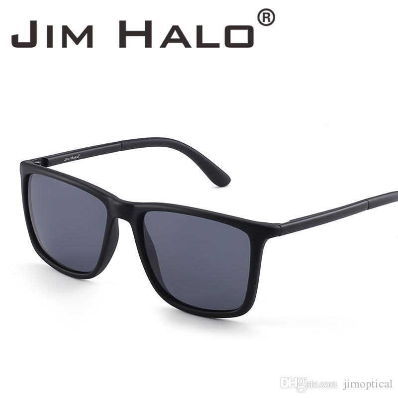 ce46ab897fba Jim Halo Polarized Driving Sunglasses Retro Vintage Square Frame UV400 Lens  Classic Sun Glasses Men Women Black Tortoise Colors Eyewear Designer  Sunglasses ...
