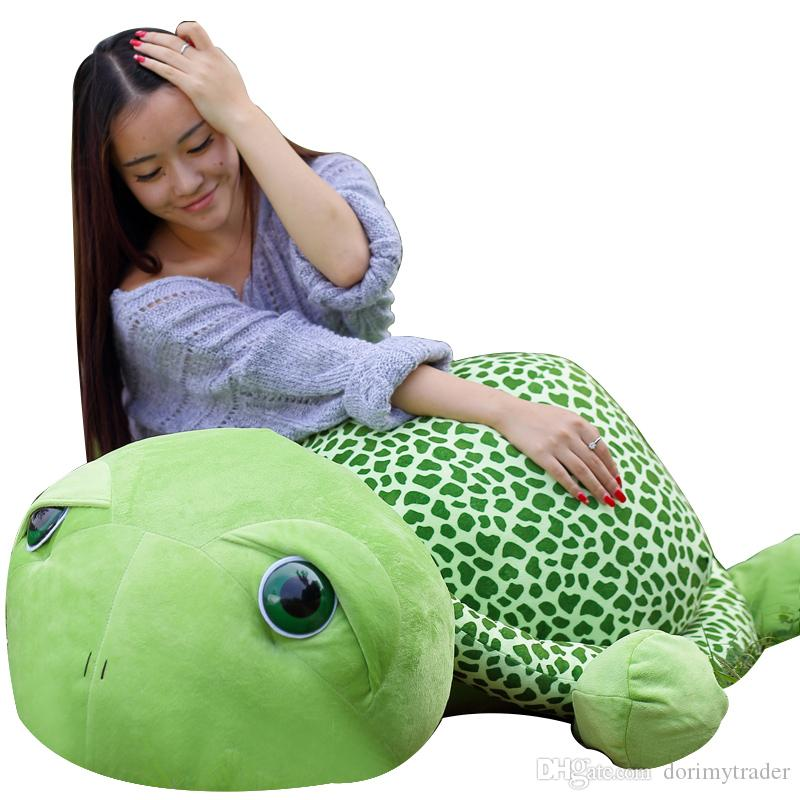 2019 Dorimytrader Big Lovely Animal Tortoise Stuffed Toy Giant Green