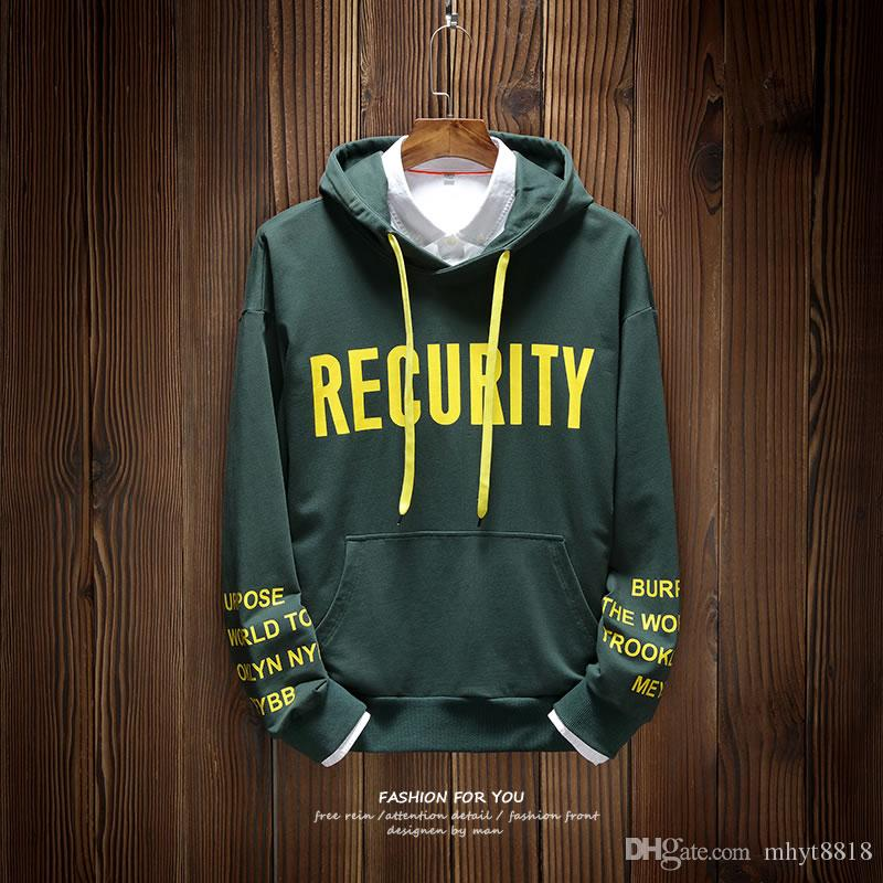 2019 Fashion Mens Sweater Comfortable Simple Set Of English Letters
