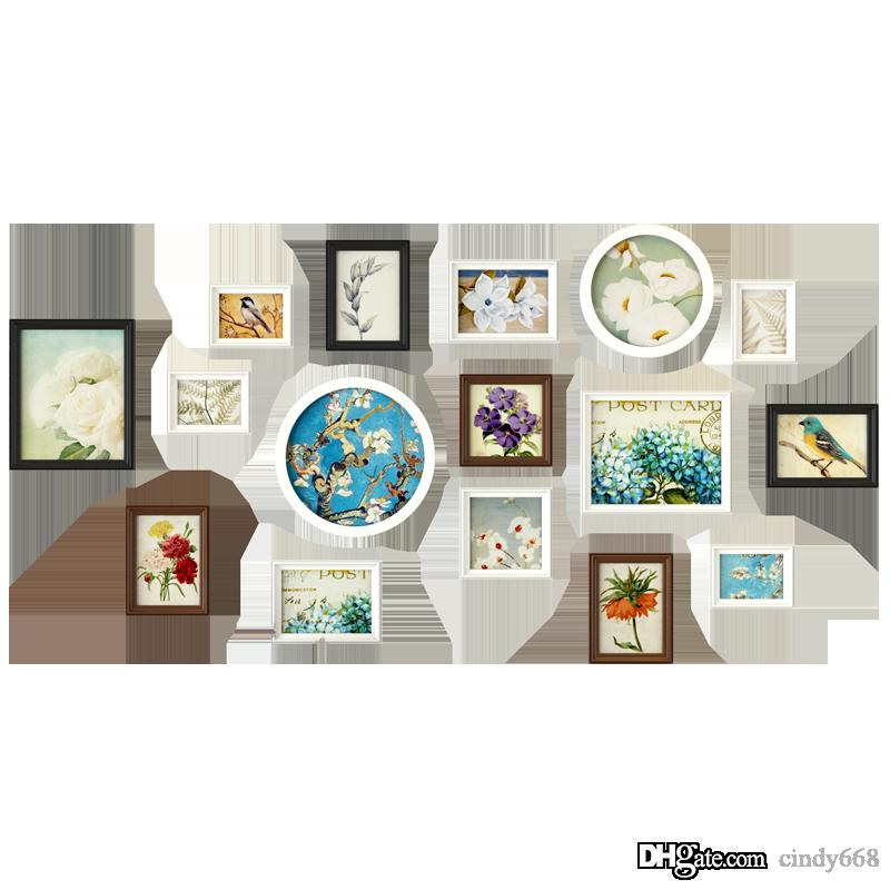 2018 Modern Multi Color Wall Photo Frame Combination Simple Photo ...