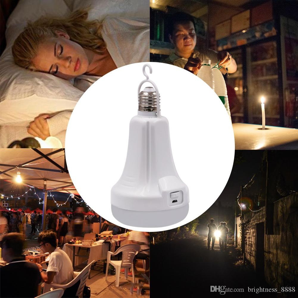 LED Intelligent Bulb Flashlight White E27 USB Rechargeable Portable Household Home Lamp Night Light Emergency Lights for Indoor Outdoor