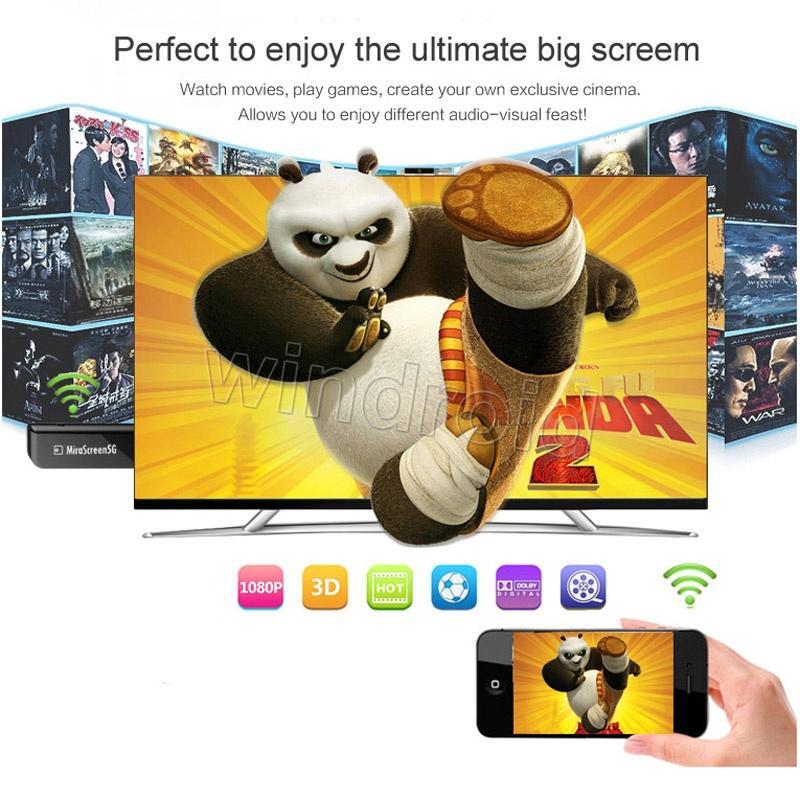 Mirescreen Mirascreen MX pantalla inalámbrica Dongle Media Video Streamer 1080P TV Stick Espejo Su pantalla al proyector PC AirPlay DLNA