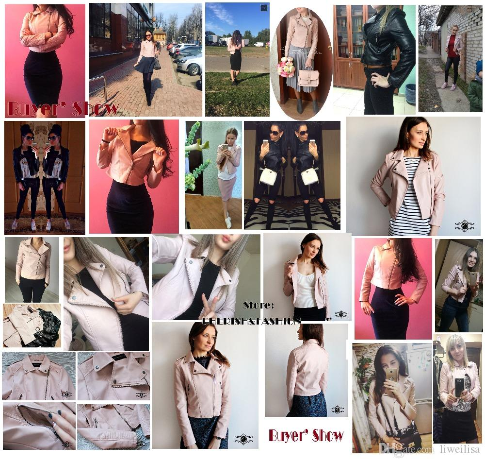 Motorcycle PU Leather Jacket Women Winter And Autumn Fashion Coat Zipper Outerwear jacket 2018 Coat